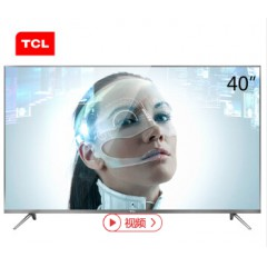 TCL 40A730U 40英寸30核人工智能纤薄金属机身HDR 4K液晶电视机