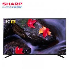 夏普(SHARP) 50英寸 4K超高清智能网络液晶平板电视机经典机型