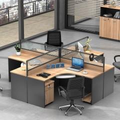 兰冉上海现代简约办公家具员工电脑桌办公桌椅组合屏风职员办公