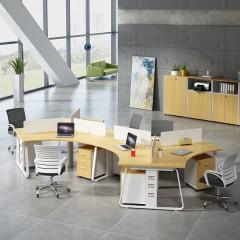 安美诚办公桌组合 办公家具 办公桌 职员办公桌椅 员工桌屏风桌
