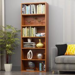 沃变 书柜书架 书柜书架置物架文件柜六层1.58米储物收纳柜子橡